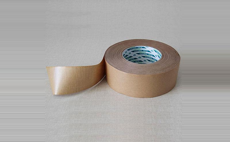 原装进口日本菊水增韧无纺布牛皮纸胶带,夹筋牛皮纸胶带,易操作,具有布基胶带同等抗拉强度,比用布胶带效率高