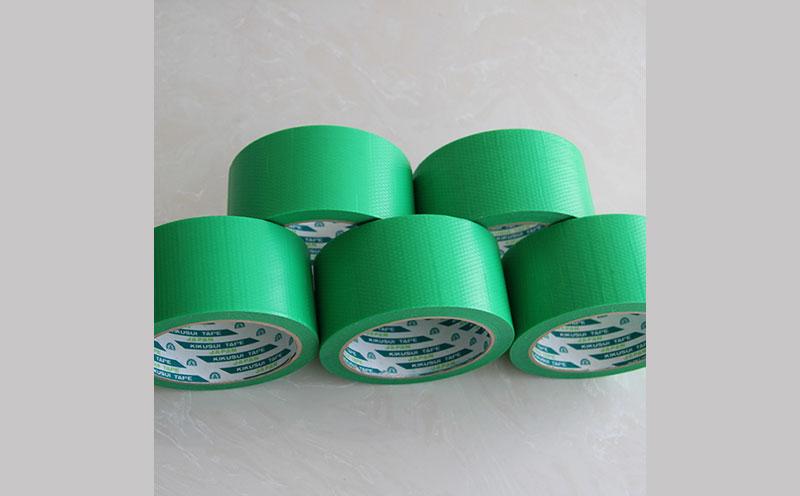 原装进口日本菊水胶带绿色扁丝编织布养生胶带,适合粗糙表面粘贴遮蔽,耐候性好,易手撕胶带,无残胶胶带