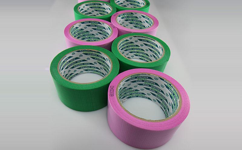 原装进口日本菊水胶带粉色编织布遮蔽胶带,易手撕胶带,无残胶,醒目提醒,防止遮蔽施工后忘记撕除,电话:13515460137.