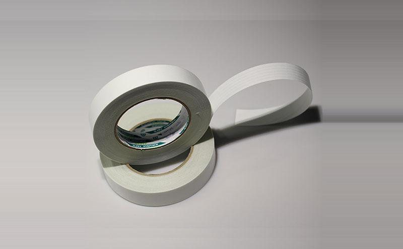 日本菊水印刷柔版双面胶带,pet基材,涂覆条纹胶层,粘贴不易进空气,高抗拉强度,撕除不易断裂,做柔性印刷模板胶带